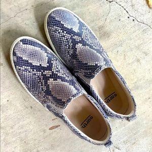 Women's Snakeskin color slip on shoes